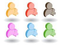 Iconos del Web del color 3d. Ilustración del vector Imagenes de archivo