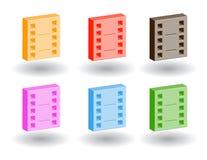 Iconos del Web del color 3d. Ilustración del vector Foto de archivo