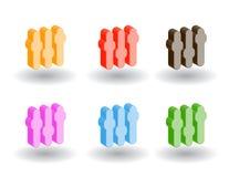 Iconos del Web del color 3d. Ilustración del vector Imagen de archivo