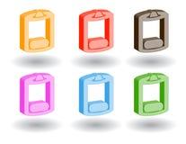 Iconos del Web del color 3d. Ilustración del vector Fotos de archivo