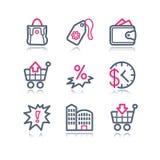 Iconos del Web del contorno del color, 26 libre illustration