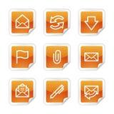 Iconos del Web del email Foto de archivo libre de regalías