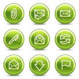 Iconos del Web del email stock de ilustración