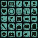 Iconos del web del estilo del Grunge Fotos de archivo libres de regalías