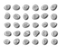 Iconos del Web del guijarro, conjunto 2 Imagen de archivo libre de regalías