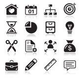 Iconos del Web del Internet fijados Fotos de archivo