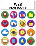 Iconos del Web del Internet fijados Imagen de archivo