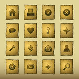 Iconos del Web del papiro stock de ilustración