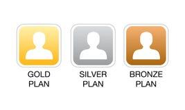 Iconos del Web del plan de la calidad de miembro Foto de archivo libre de regalías