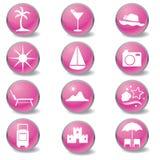 Iconos del Web del recorrido Foto de archivo