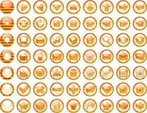 Iconos del Web del tigre Imágenes de archivo libres de regalías