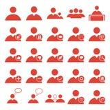 Iconos del Web del usuario fijados Foto de archivo