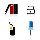 Iconos del Web/elementos de la insignia Imágenes de archivo libres de regalías