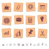Iconos del Web en las notas 2 de la nota Fotos de archivo libres de regalías
