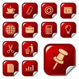Iconos del Web en los botones 2 de la etiqueta engomada Imagen de archivo