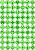 Iconos del Web en verde