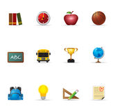 Iconos del Web - escuela Fotografía de archivo libre de regalías