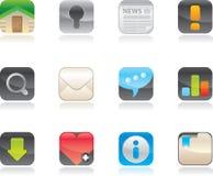Iconos del Web fijados. Fotos de archivo