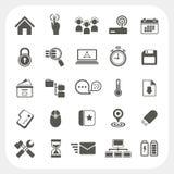 Iconos del web fijados Fotos de archivo