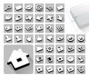 42 iconos del web fijados Fotografía de archivo libre de regalías