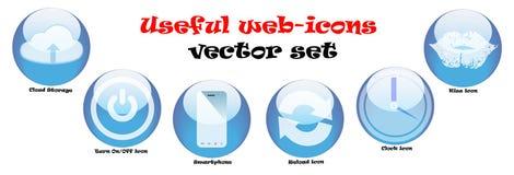 Iconos del Web fijados Imagen de archivo