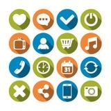 Iconos del Web fijados Fotografía de archivo