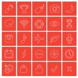 Iconos del Web fijados Foto de archivo libre de regalías