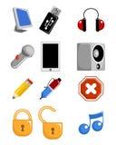 Iconos del Web fijados Imagenes de archivo