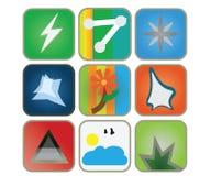 Iconos del Web fijados Imágenes de archivo libres de regalías