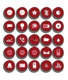 Iconos del Web fijados Fotos de archivo libres de regalías