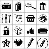 Iconos del Web fijados Fotografía de archivo libre de regalías