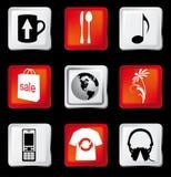 Iconos del Web fijados Ilustración del Vector