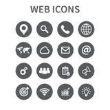 Iconos del Web fijados Icono universal del web a utilizar en el web y UI móvil, sistema de elementos básicos del web de UI Ilustr Imagen de archivo
