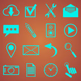 Iconos del web fijados para el web y las aplicaciones móviles Imágenes de archivo libres de regalías