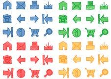 Iconos del Web fijados - vector