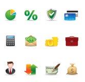 Iconos del Web - finanzas 2 Imágenes de archivo libres de regalías