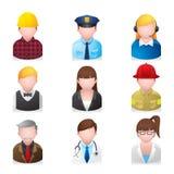 Iconos del Web - gente profesional 2 Imagenes de archivo