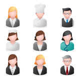 Iconos del Web - gente profesional Imagen de archivo libre de regalías