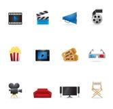 Iconos del Web - películas Imagen de archivo