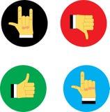 Iconos del web sí y no stock de ilustración