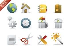 Iconos del Web - serie #1 de Novica Imágenes de archivo libres de regalías