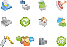 Iconos del Web - serie #6 de Varico stock de ilustración