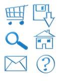 Iconos del Web site - botones Fotografía de archivo libre de regalías