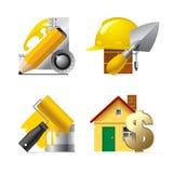 Iconos del Web site del edificio Fotografía de archivo