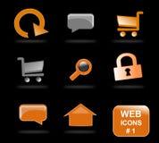 Iconos del Web site, parte 1 Fotos de archivo