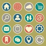 Iconos del Web site y de Internet Fotos de archivo libres de regalías