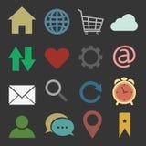 Iconos del Web site y de Internet Imagen de archivo libre de regalías