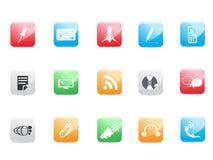 Iconos del Web site y del Internet Foto de archivo libre de regalías