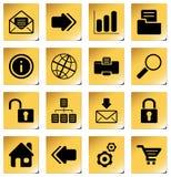 Iconos del Web site y del Internet stock de ilustración