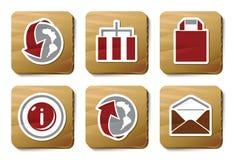 Iconos del Web site y del Internet | Serie de la cartulina Fotos de archivo